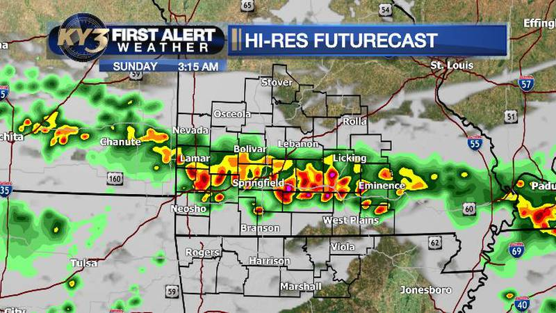 Some storms overnight