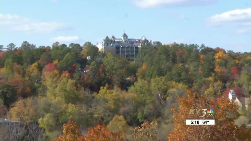 The Crescent Hotel is perched high above Eureka Springs.