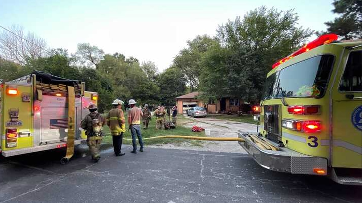 Firefighters responded to the fire in the 1900 block of North Marlan Avenue.