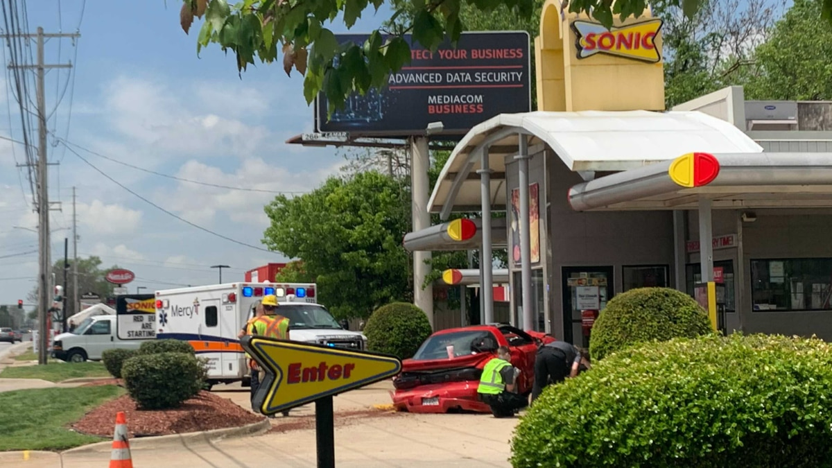Officers responded to the crash Thursday around 1 p.m. at the restaurant on West Sunshine...
