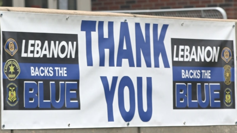Lebanon honors law enforcement with signs across town.