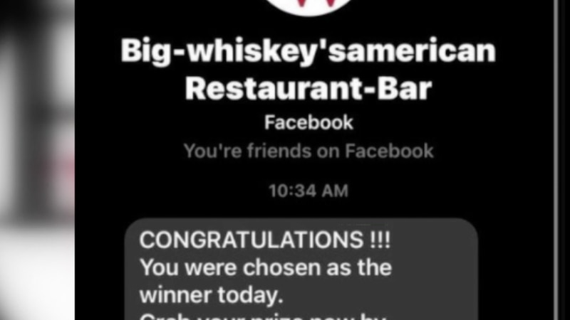 Beware of a Super Bowl giveaway scam on Facebook involving a Springfield-area restaurant.