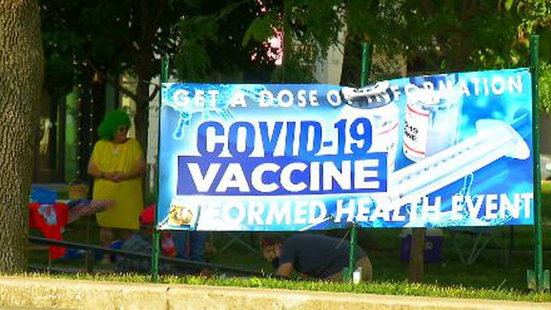 COVID-19 vaccine protest held in downtown Springfield