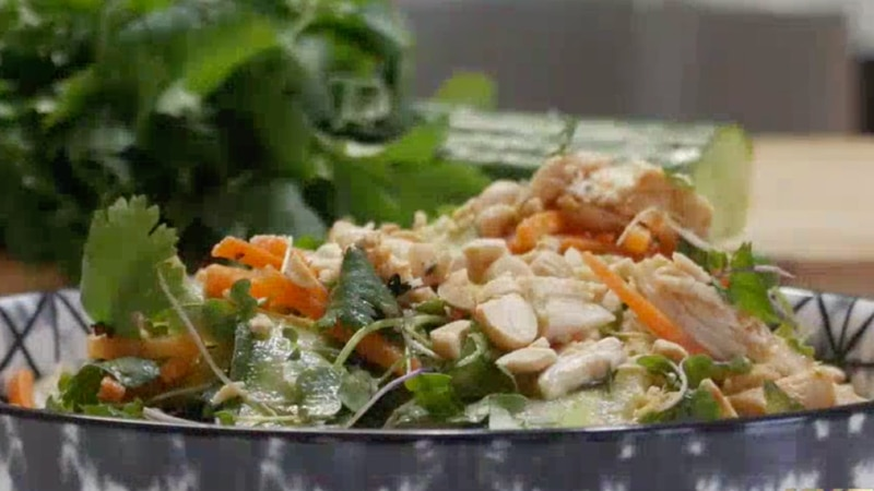 Taste of the Ozarks: Thai Cucumber and Chicken Spring Salad