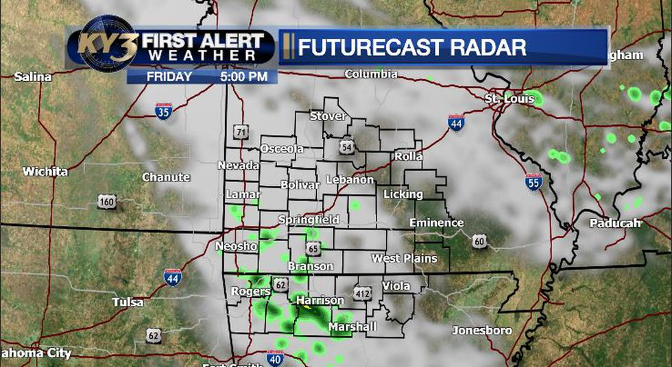 A few showers today